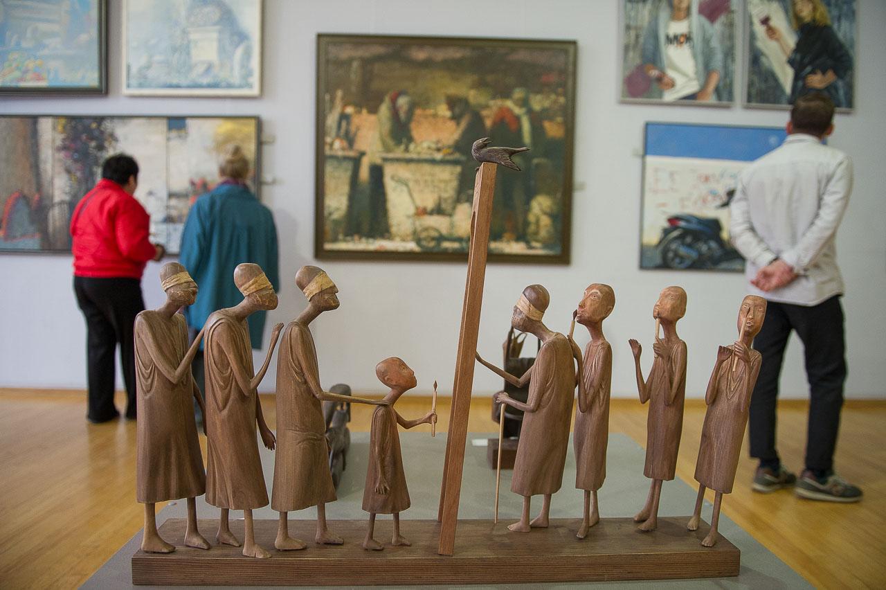 Навыставке представлена нетолько живопись