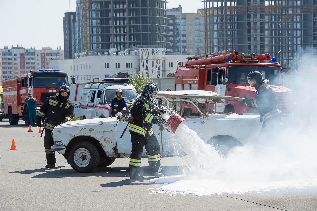 Пожарные моментально устранили возгорание