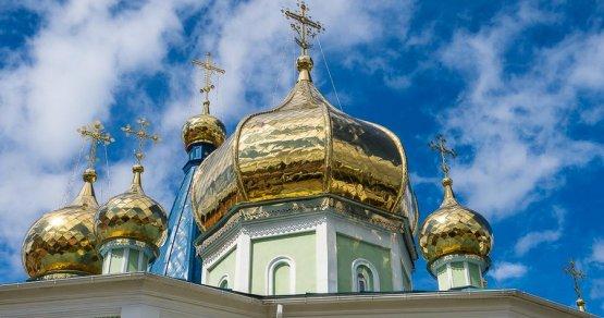Купола Свято-Симеоновского кафедрального собора вЧелябинске— красоты небесной...